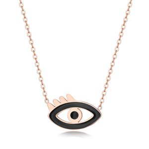Evil Eye Pendant Necklace For Women Titanium Steel Chain Rose Gold Color Charm Turkey Eyes Pendent Female Jewelry Necklaces