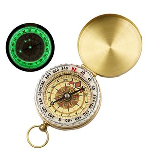 Portable Camping Hiking Compass High Quality Pure Clamshell Luminous Compass Outdoor Activities Pointing Guide Tools 1013 Z2