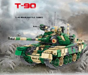 Educational T90 The Soviet Union Russia Main Battle Tank Model Kits Military Toy Building Blocks For Boy