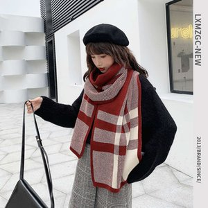 scarves Korean versatile two color Plaid Scarf women's fashion net red ins outdoor cold proof long dual purpose shawl