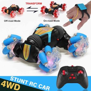 2.4G Stunt RC Car 4WD 360Rotation Drift Gesture Induction Control Car Twisting Off-road Vehicle with Light Music Drift Toy Gift