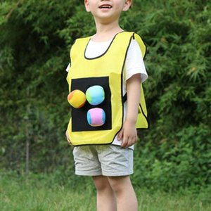 Outdoor 5 Color Stick Jersey Jersey Juego Chalecos Interesante Kindergarten Dodgeball Adhesivo Bola Chaleco Campaña Creativa