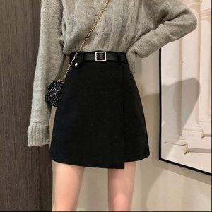 England Mini Black Winter Women Skirts Office Fashion Solid High Waist Harajuku Ladies A Line Females Casual Midi