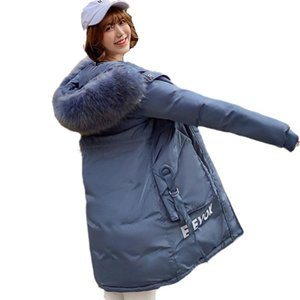 Women's Trench Coats Arrival Oversize Fur Thick Coat Parka 2021 Winter Big Collar Fashion Body-building And Thicker Girl's Jacket