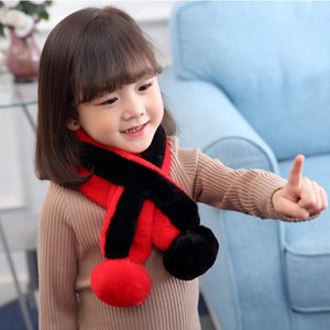 Scarves & Wraps Winter Imitation Fur Scarf Boys girls And General Unisex,children With Wool Warm Baby Upset Cross Collar