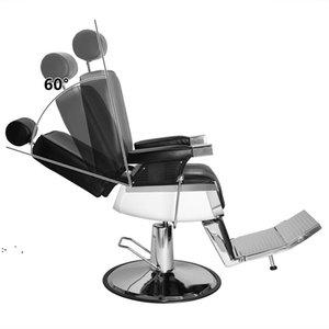 Hand Hydraulic Recline Barber Chair Salon Furniture, for Hair Stylist Heavy Duty Tattoo Chairs Shampoo EquipmentBlack BY SEA OWD10236