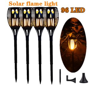 Powerful Flame Solar Lamp Outdoor Torch Lights Waterproof Garden Light Flicker Lights for Garden Decoration Automatic On Dusk