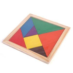 Nuevo Hot 20 PCS Venta al por mayor Niños Desarrollo Mental Tangram Juegos de madera Puzzle Juguetes educativos para niños 944 v2