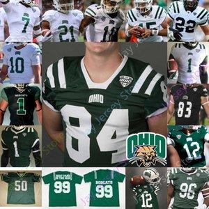 Ohio Bobcats Football Jersey NCAA College Nathan Rourke O'Shaan Allison De'Montre Tle Isiah Cox Shane Hooks Ryan Luehrman Austin Conrad