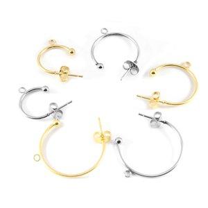 6pcs Stainless Steel C-shaped Ear Hook Earring Pendant Earrings Accessories Ear Pin DIY Handmade Earring Jewelry Making Findings 1190 Q2