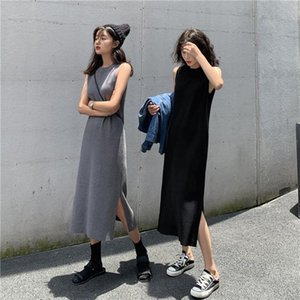 Filmi - Video 4715 # 2021 Bahar Kolsuz Yelek Gevşek Tasarım Duygu Render Kız Günlük Elbiseler