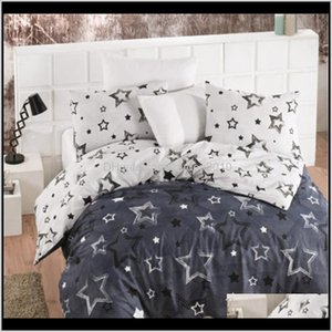 Sets Supplies Textiles Home & Garden Drop Delivery 2021 Lady Moda Star Luxury Linen Cotton Ranforce Bedding Set Twin Full Queen King Size 3 4
