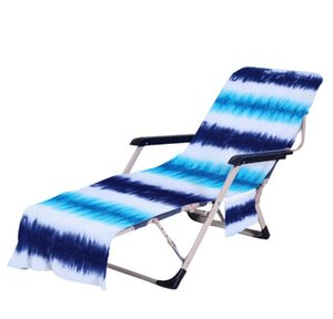 Tie Dye Beach Chair Cover with Side Pocket Colorful Chaise Lounge Towel Covers for Sun Lounger Pool Sunbathing Garden ZZE6139