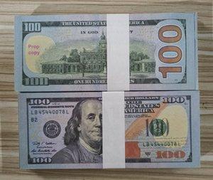 USA Dollars PROP PROPAGE MONDIURE Billet de banque Papier Nouveauté Jouets 20 50 100 Dollar Devise Partie faux argent cadeau cadeau cadeau Jouet Banknote 1