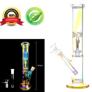 11,6 дюймовый стеклянный бонг прямой ручной работы водопроводной трубку для курящих аксессуаров (светящиеся)