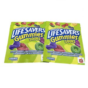 lifesavers gummies sours Packaging Bags 500MG sour punch bites Zip Lock Edibles Retail Candy Gummy Bag Dry Flower SmellProof Mylar edible
