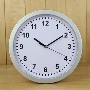 White Plastic Wall Clocks Hidden Opened Storage Boxs Round Organizer Watch Clock Safe Box Hanging Concealment Container