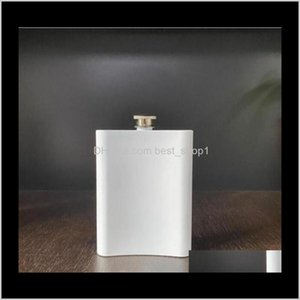 Flasks Sublimation Stainless Steel Hip Flask Outdoor Portable Vamping Tumblers 8Oz Water Bottle Flagon Sea Zzc3287 L3Gv5 Wi245