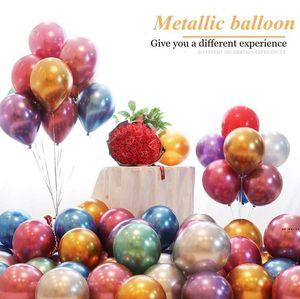 بالون اللاتكس المعادن كروم اللون سماكة البالونات اللؤلؤ الطفل استحمام الطفل عيد ميلاد حزب احتفالي تخطيط الديكور HWC7496