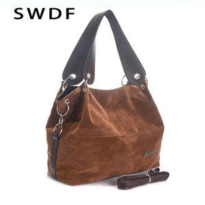 SWDF Brand handbag female large high quality ladies shoulder messenger top-handle bags soft corduroy vintage tote bag 210908