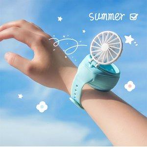Portable USB Fan Watch Mini Fan Handheld Ventilator Rechargeable Cute Wrist Air Cooling Fans Kids Children Gift Outdoor Sports