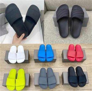 En Kaliteli Paris Moda Erkek Bayan Yaz Kauçuk Sandalet Plaj Slayt Moda Scuffs Terlik Kapalı Ayakkabı Boyutu 35-45