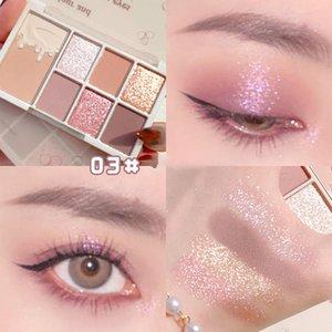 Eye Shadow 7 Color Eyeshadow Palette Makeup Glitter Long Lasting Blush Cosmetics For Women Girls SOYW889