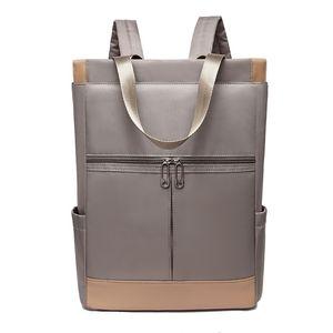 Oxford Waterproof 14 Inches Laptop Backpack Women Large Capacity Ladies Hand Double Shoulder Bags Female Bagpack Travel Bags 210401