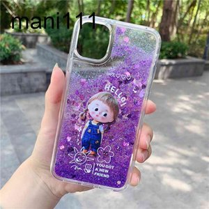 Suitable for Samsung note10 quicksand Mermaid starfish A70 mobile phone case S20 silicone lanyard 50 soft