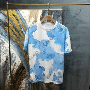 2021 NEUER SPRINT EUROPE EUROPE Luxus Herren Brief Druck Tshirt Herren Kurzarm Ganze Körperdruck T Shirts Casaul Designer T-Shirt Baumwolle Tee