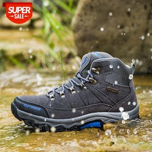 Men's high-top outdoor hiking shoes Wish leisure sports #wW9D