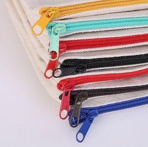 2021 Sublimation Blank Cosmetic Bags Canvas Zipper Pencil Cases Customized Women Makeup Bag Fashion Handbag Pouchs