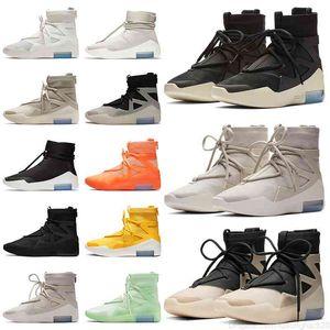 Crainte de qualité supérieure de Dieu 1 Classic Hommes Chaussures de basket-ball Sports Sneakers Triple Black String La Question Amarillo Givré Spruce Grey Sail