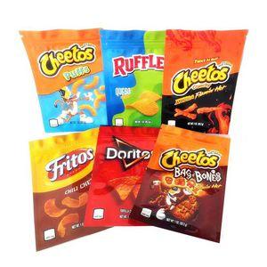 Cheetos Bag Crunchy Mylar Bags Jokesup 1OZ 600mg Doritos Pouch Puffs Fritos Ruffles Smell Proof Packaging