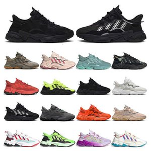 top men sneakers ozweego Casual Shoes womens Black Carbon Cloud White race Cargo Icy Pink Glow Green bright cyan mens trainers sports size