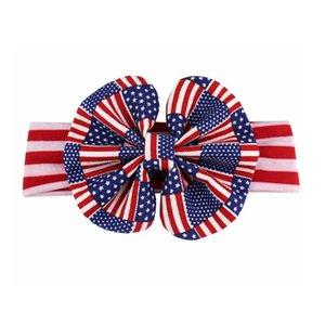 Rotes weißes und blaues patriotisches elastisches Kopfband- USA-Haar-Krawatten-Geschenk, amerikanisches Flagge-Accessoire, Stars Stripes, 4. Juli- Unabhängigkeitstag-Baby-Make-up
