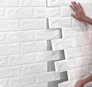 Декор Главная Сад Drop Доставка 2021 70 * 77 10шт 3D Кирпичная Стена Наклейка DIY Самоклеящийся Декор Пена Водонепроницаемая Обои для детей