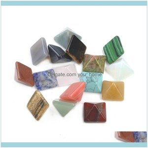 Pendants Arts, Crafts Gifts Home & Gardenpyramid Natural Crystal Healing Wia Spirituality Carvings Stone Craft Square Quartz Turquoise Gemst