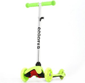 Flashing 3-Wheeled Scooter Ride-Ons Toy for Boys Girls Ages 2-8 Years Old Adjustable Height Red Blue Orange Pink Green