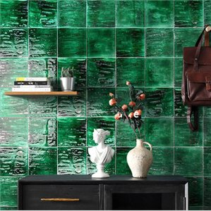 Making old and retro glazed tiles Nordic bathroom wall tile kitchen bar vitrolite