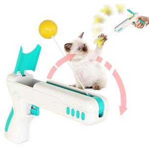Cat Toys Funny Interactive Toy With Feather&Ball Original Stick Gun For Kittens Puppies Small Dogs Pet Products Drop