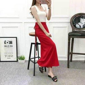 Skirts Womens Summer Lace-up Beach Solid Sexy Wrap One Piece Long High Waist Side Split Korean Trendy Femme