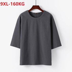 Men's T-Shirts Summer Chinese Style Linen Cotton Men Tshirt Half Sleeve Large Size 8XL 9XL Home Casual Vintage Tang Suit Tees Oversize 70
