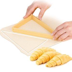 3sets / Lotkitchen Gadgets Cortador de croissant de plástico Máquina de molde Maquinar máquina de pan Línea de pan Molde Hoja de masa Hornear Herramientas de pastelería