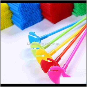 Event Festive Home Garden Drop Delivery 2021 Balloons Holder Sticks With Cup Latex Balloon Stick White Pvc Rods Supplies Party Decoration Acc