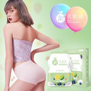 Direct seeded fruit C lactic middle waist seamless polylactic acid antibacterial women's underwear box0K5O