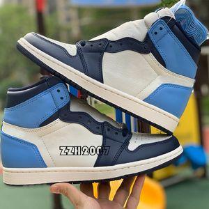 أحذية كرة السلة AJ1 SHOES  Jumpman air jordan 1S OG عالية تويست محظوظ الأخضر الحيوي هاك عاكس الأبيض الملكي شيكاغو تو سبج براءات الاختراع تشغيل أحذية رياضية