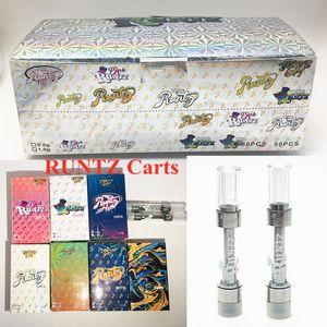Runtz Cartridge Carts 0.8ml 1ml Carts Electronic e Cigarettes Empty Vape Vaporizer Pen 510 Cartridges Ceramic Packaging Press in Atomizer intake 1.8mm