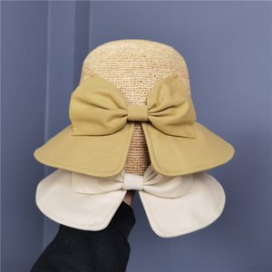 Summer big eaves raffia straw hat women female fashion split fisherman hats korean style trendy sun cap womens bow caps bag sunglasses wholesale