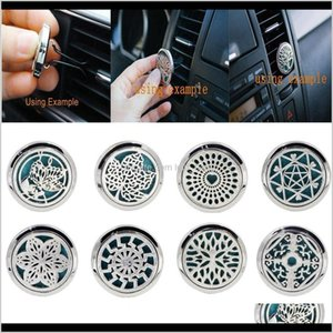 10 Style Stainless Car Vent Essential Oil Diffuser Gift R3Bfr Vtqic